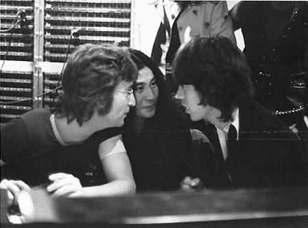 John Lennon, Yoko Ono & Mick Jagger / Rolling Stones Record Plant, NYC 1972