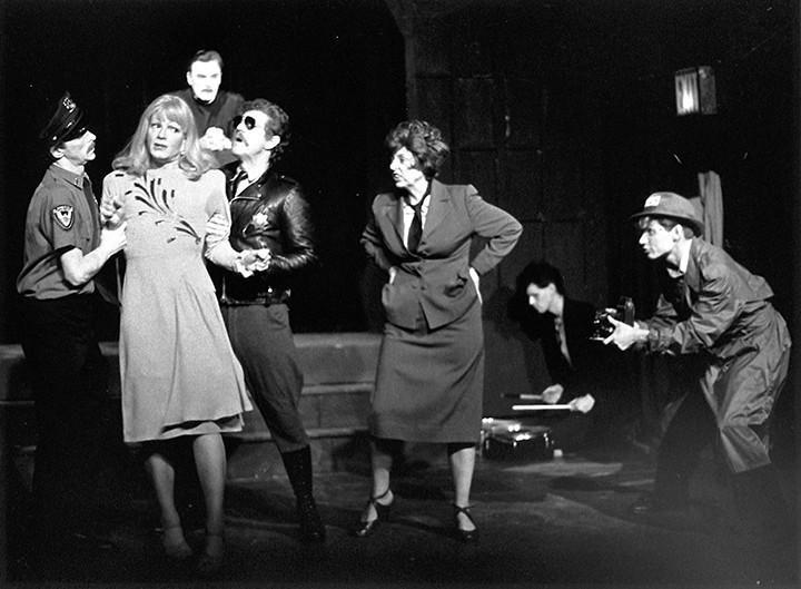 "Jackie Curtis as Frances Farmer in ""I'll Die Tomorrow"", NYC 1983"