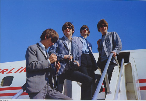 The Beatles at Seattle Tacoma Airport in Washington, 1964