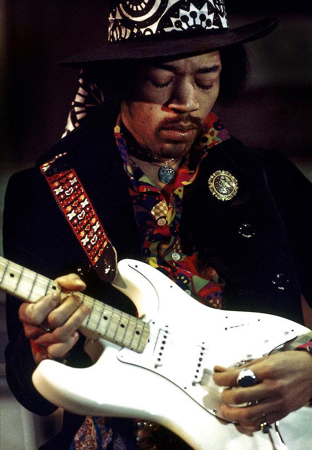 Jimi Hendrix  Rehearsal by Andrew Maclear.  Royal Albert Hall London, 1968