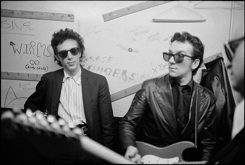 Richard Hell and Elvis Costello CBGB. NYC, 1978