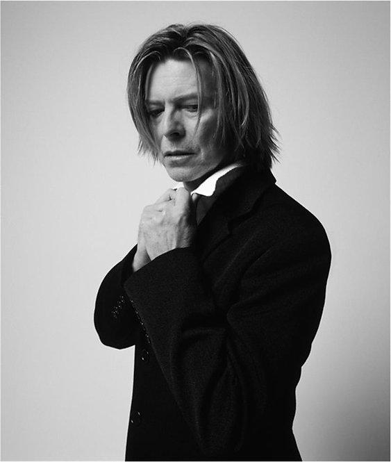 David Bowie in a Black Jacket by Mick Rock. NYC, 2002