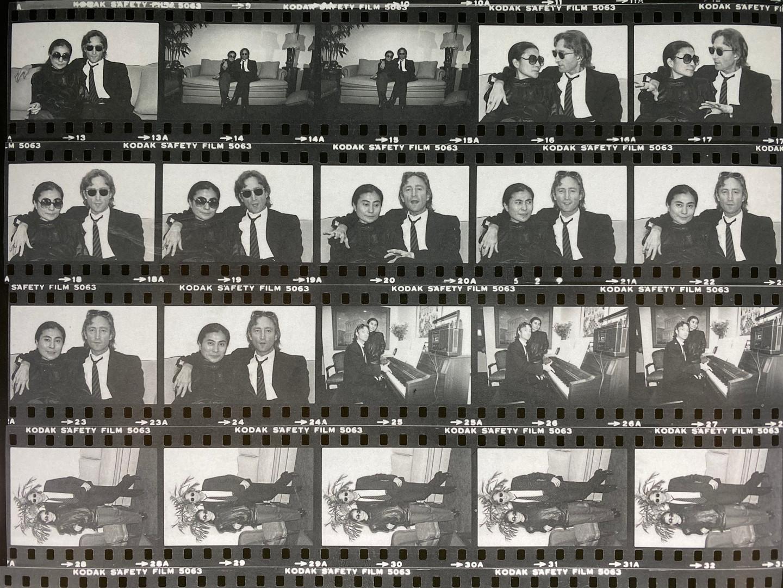 Lennon and Yoko / contact sheet
