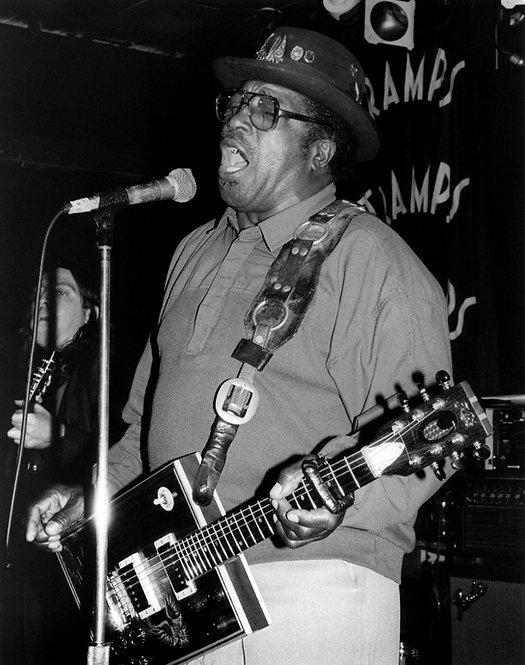 Bo Diddley by Bob Gruen. NYC, 1992