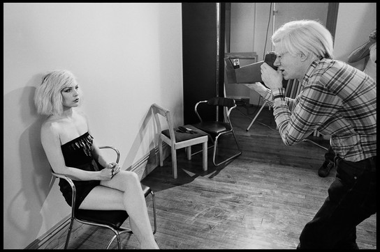 Andy Warol with Debbie - Photoshooting