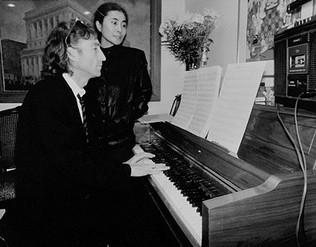 John Lennon & Yoko Ono - At Piano Hit Factory, NYC 1980