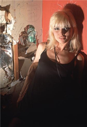 Debbie Harry, black dress. NYC, 1976