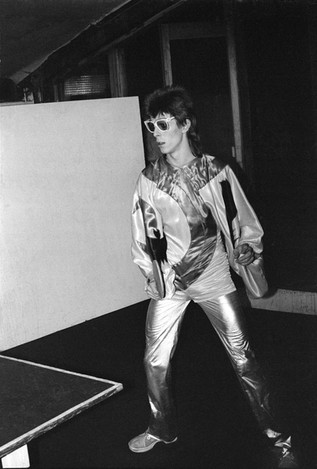Bowie Playing Table Tennis. 1973