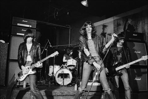 Ramones performing at CBGB
