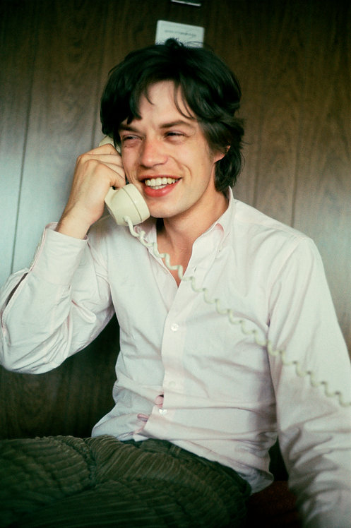 Mick Jagger on the Phone, 1965