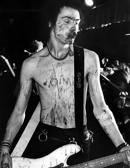 Sid Vicious by Bob Gruen. Dallas, TX 1978