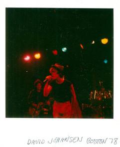 David Johansen. Boston, 1978