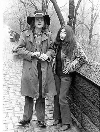 John Lennon & Yoko Ono Central Park, NYC 1973