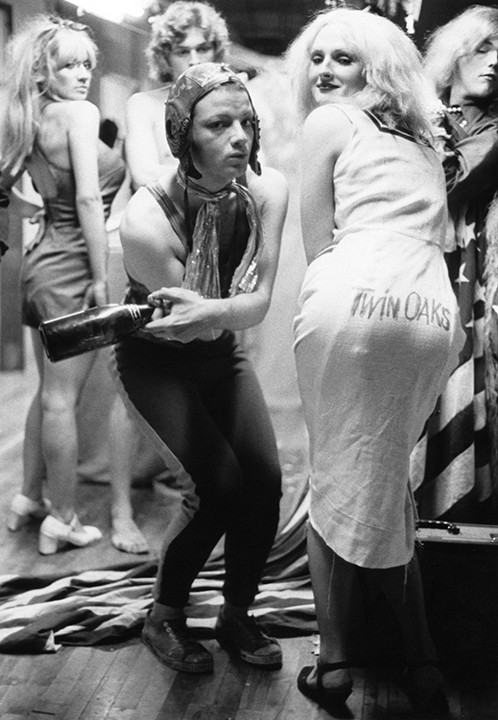 """Jackie Curtis and Candy Darling. """"Vain Victory"""" Rehearsal, NYC 1971"""