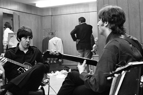 Paul McCartney and John Lennon Backstage, Olympia Stadium, Detroit - MI, 1966
