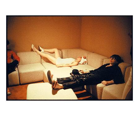Debbie Harry and Chris Stein by Roberta Bayley, Dressing room. Las Vegas, 1979