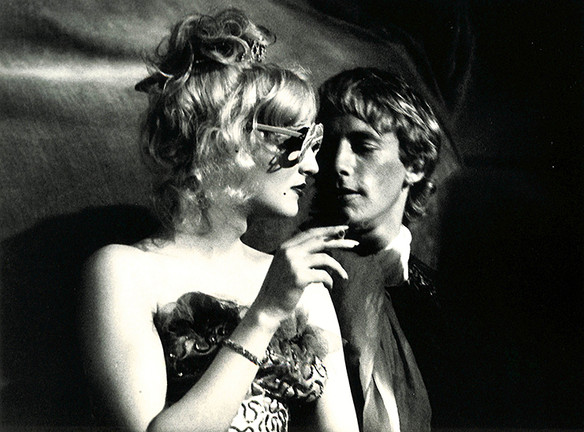 """Candy Darling and Eric Emerson. """"Vain Victory"""", NYC 1971"""