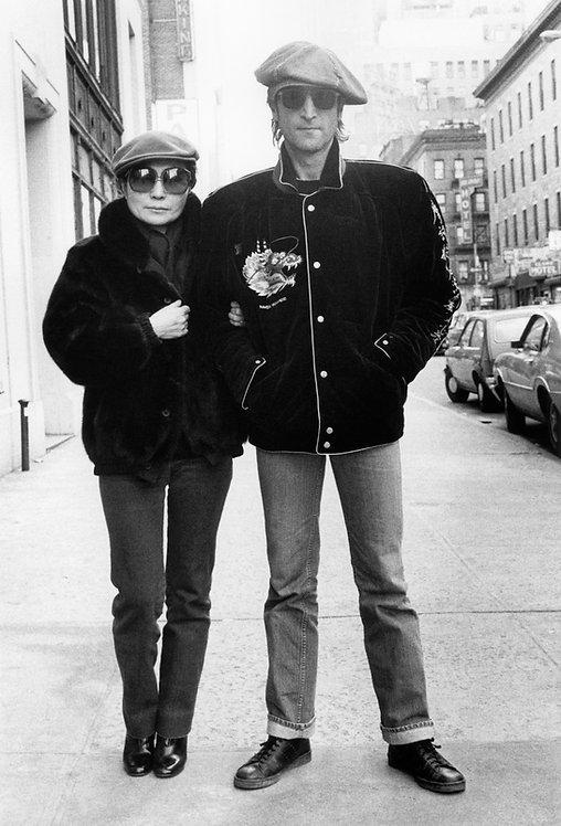 John Lennon & Yoko Ono by Bob Gruen. NYC, 1980