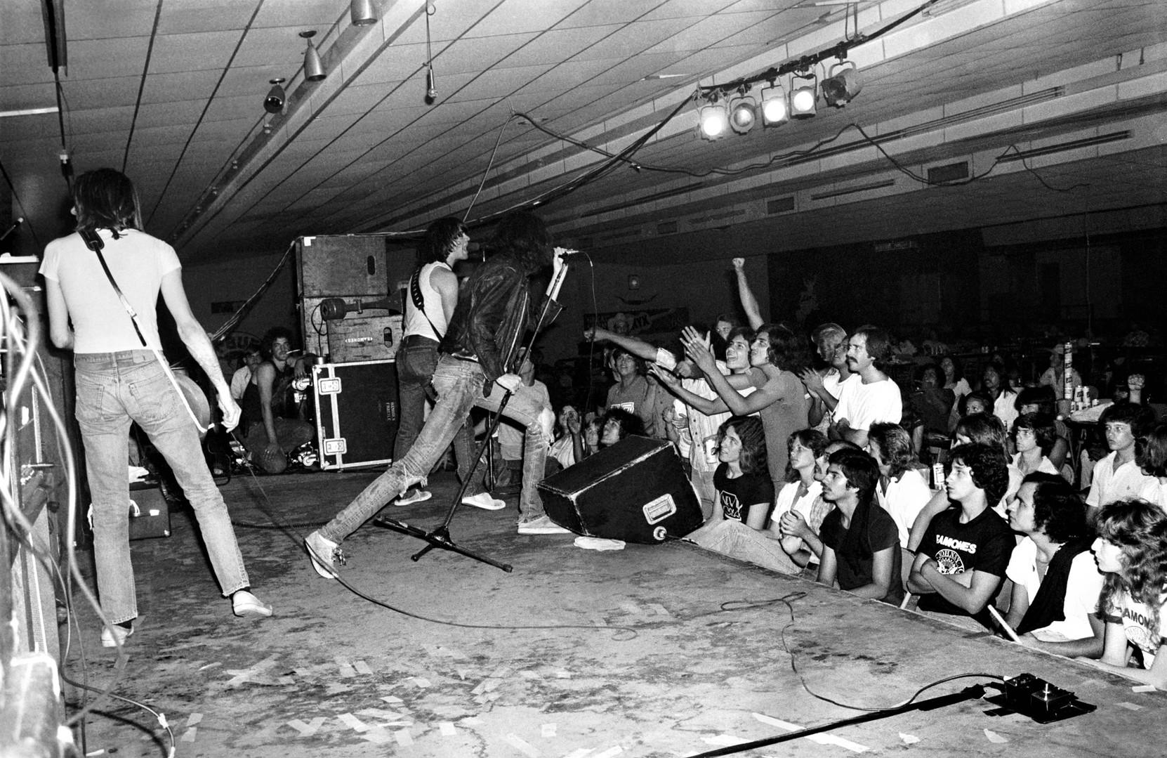 Ramones performing