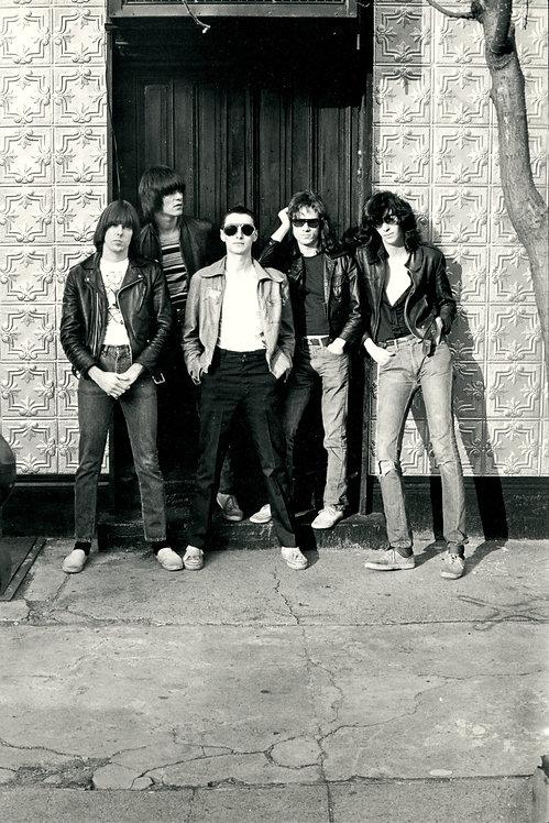 The Ramones with Arturo Vega (front). New York, 1976