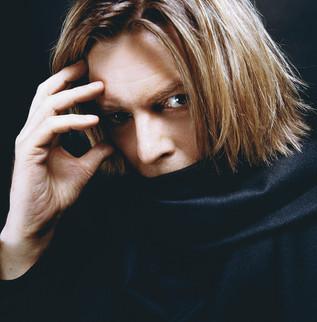 David Bowie Black Scarff. NYC, 2002