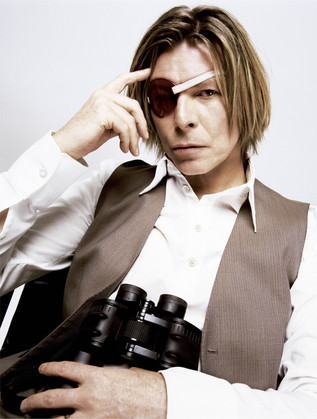 Bowie With Eye Patch. New York City, 2002