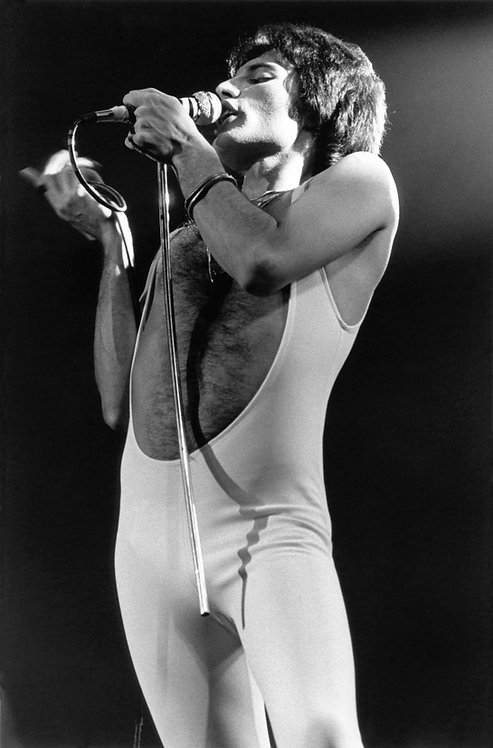 Freddie Mercury, Queen by Bob Gruen. NYC, 1977