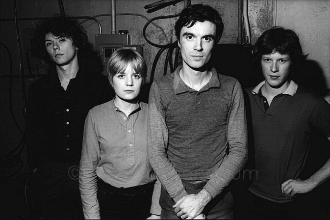 The Talking Heads backstage at The Lower Manhattan Ocean Club