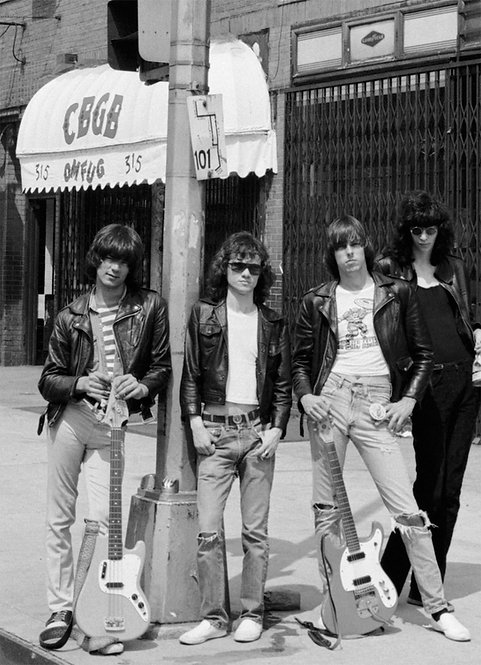Ramones by Bob Gruen. CBGB New York City, 1975