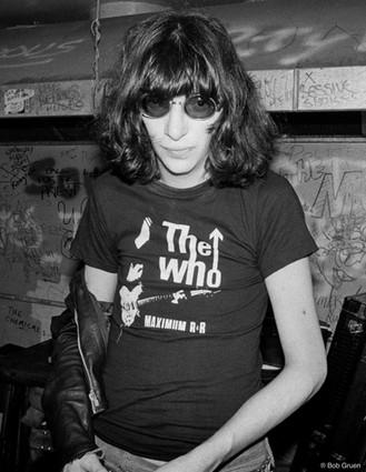 Joey Ramone at CBGB. NYC, 1979