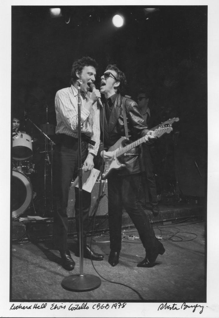Richard Hell and Elvis Costello. CBGB, New York