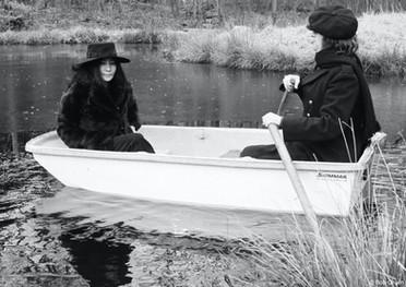 Durante um passeio no campo em Greenwich. Connecticut, 1972