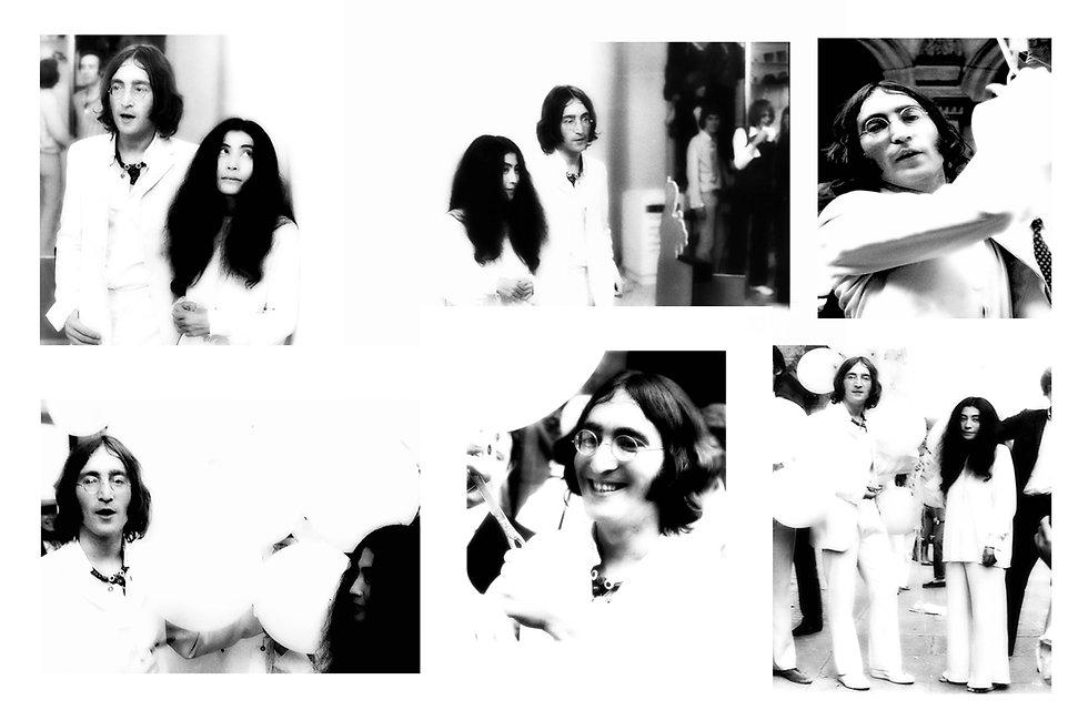 John Lennon Yoko Ono - Balloons - Group.