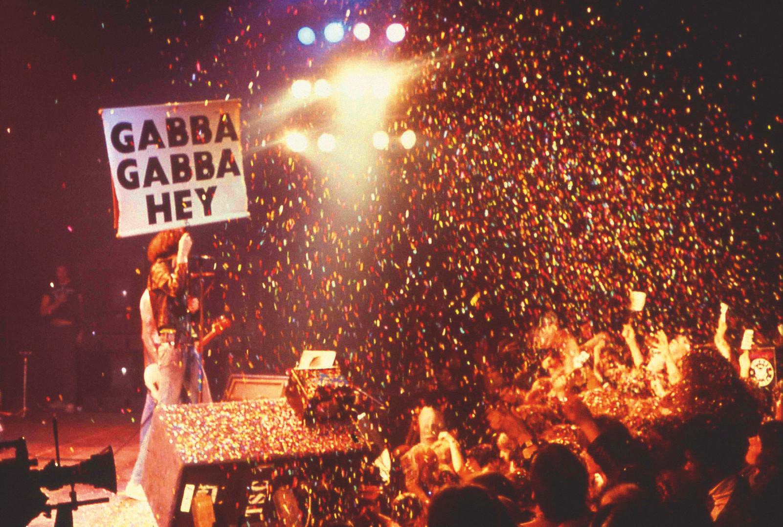 Ramones Gabb Gabba Hey. London, UK - 1977
