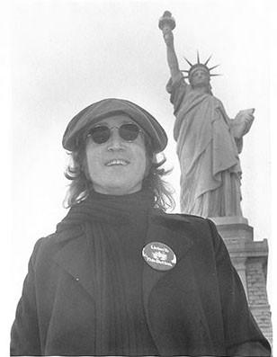 John Lennon - Statue of Liberty Close Up (Out Take) Liberty Island, NYC 1974