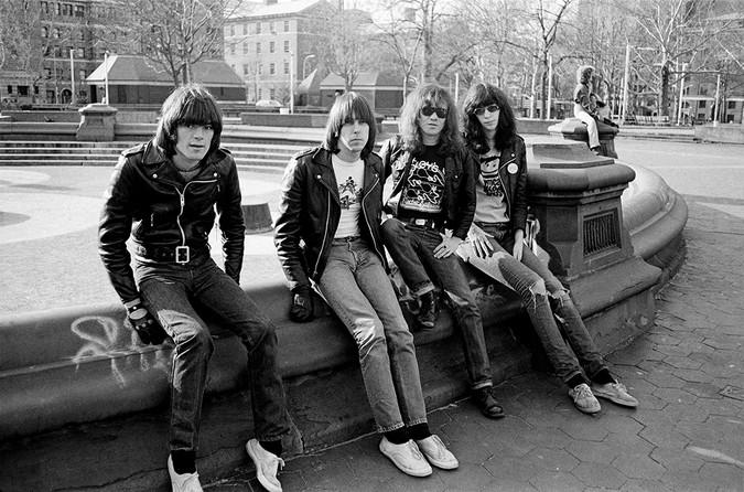 The boys in Washington Square Park.