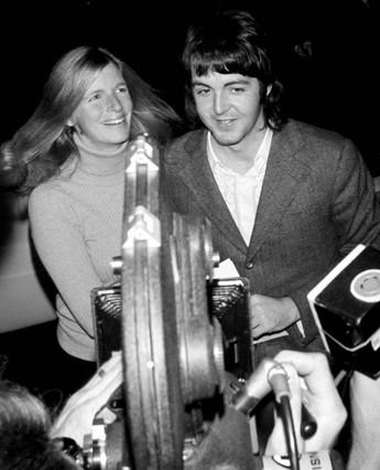 Paul and Linda McCartney  Film Premiere.
