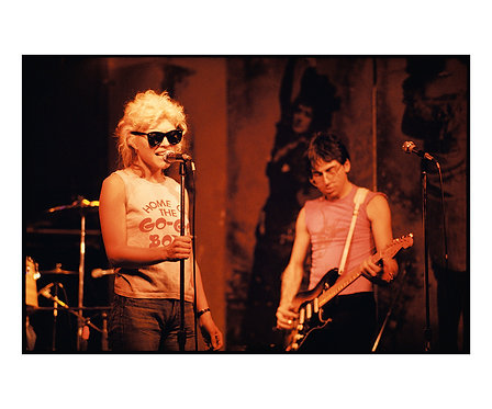 Debbie Harry and Chris Stein by Roberta Bayley, Rehearsal at CBGB, 1976