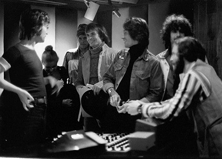 John Lennon, Rudolf Nureyev, Rick Frank & Al Steckler / Elephant's Memory Record Plant, NYC 1972