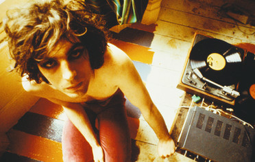 Syd Barrett With Record Player. London, 1969