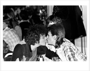 Lou Reed,  Bowie, Kiss at Cafe Royal. London, 1973