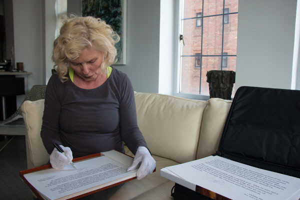 Debbie Harry signing