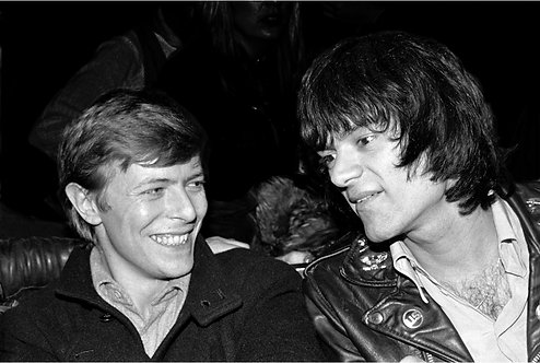 David Bowie with Dee Dee Ramone at The Mudd Club 1978