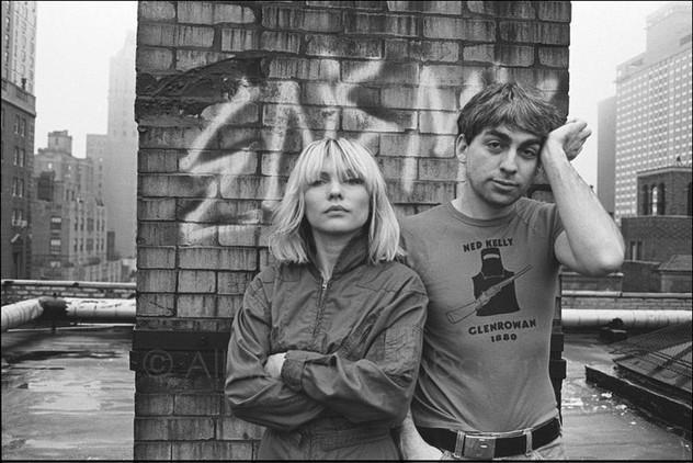 Debora Harry and Chris Stein of Blondie on their roof. NYC 11/28/80