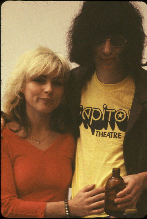 Debbie Harry and Joey Ramone by Roberta Bayley, 1977