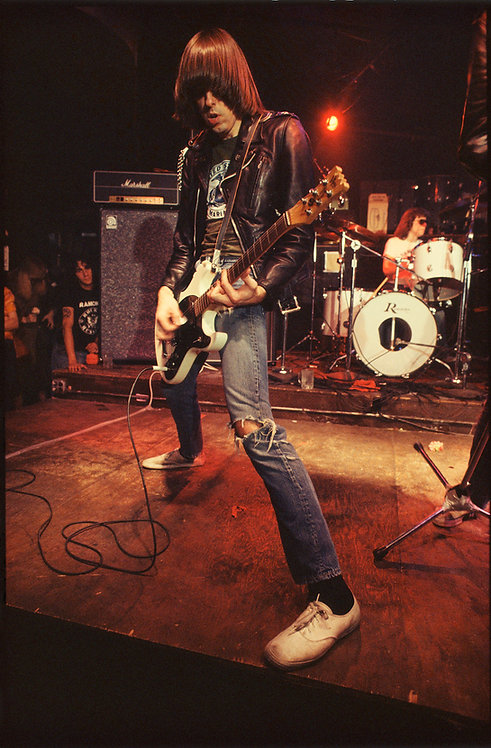 Johnny Ramone by Roberta Bayley. CBGB - NYC, 1976