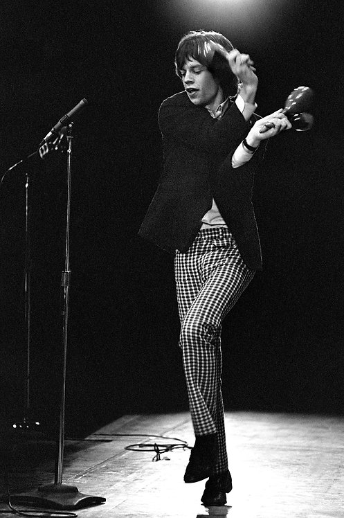 Mick Jagger With Maracas, Fourth U.S. Tour, 1965