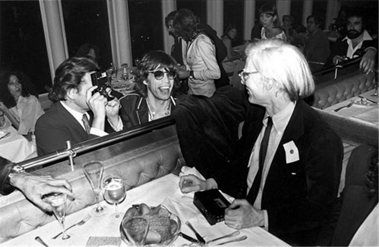 MickMick Jagger & AndyWarhol. NYC, 1976