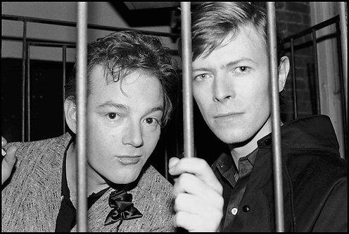 Jackie Curtis with David Bowie at The Mudd Club. New York, 1979