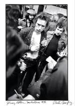 Johnny Rotten on the street